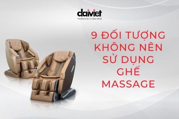 Những đối tượng nào không nên sử dụng ghế massage?