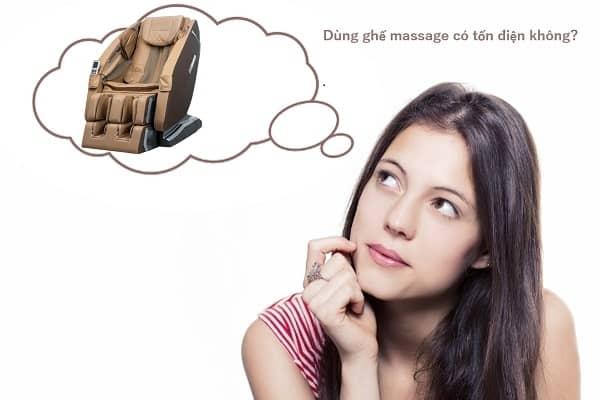 Dùng ghế massage có tốn điện không? Lời giải đáp từ chuyên gia