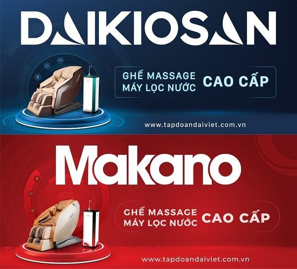 Đại Việt ra mắt ghế massage Daikiosan và Makano cao cấp