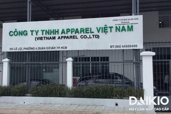 Hệ thống máy làm mát Daikio xưởng Apparel Việt Nam