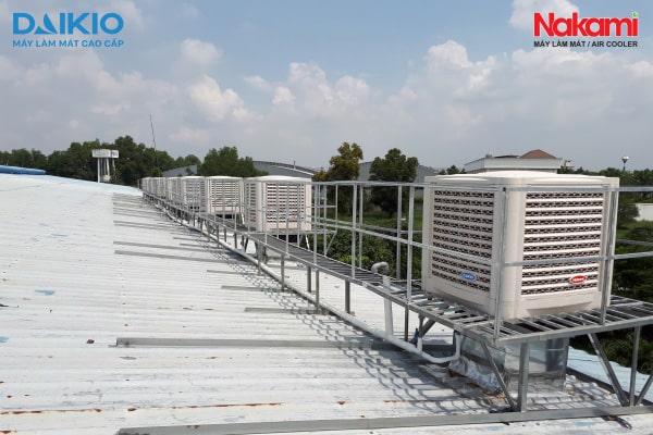 CP Cơ điện lạnh Đại Việt thi công lắp đặt hệ thống máy làm mát công nghiệp cho CTY Tân Phú Minh