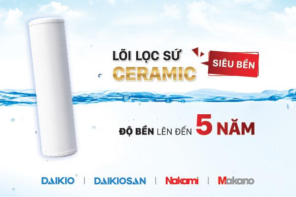 Công nghệ lọc nước Ceramic trong máy lọc nước cao cấp Daikiosan / Makano