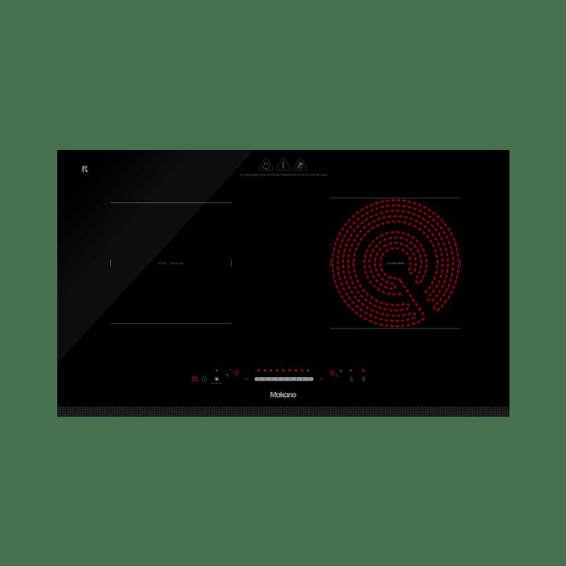 Bếp kết hợp từ và hồng ngoại Makano MKC-200002 - 2 vùng nấu lắp âm