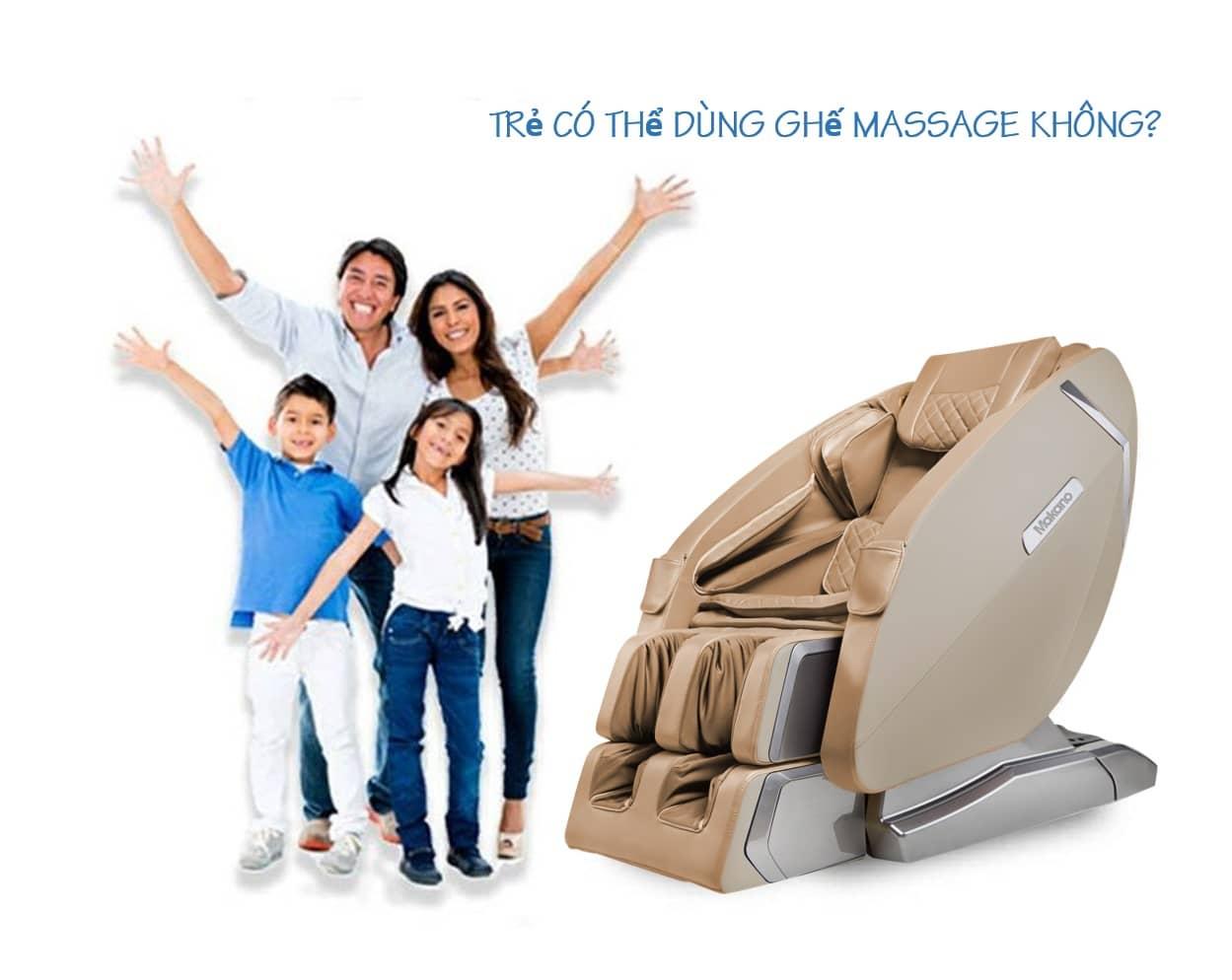 Dưới 10 tuổi, có nên sử dụng ghế massage cho trẻ em?