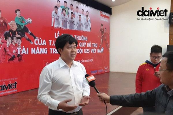 """Tâm sự của CEO Đại Việt sau trận chung kết U23: """"Mong các em thành công và giữ sạch bóng đá Việt Nam"""""""