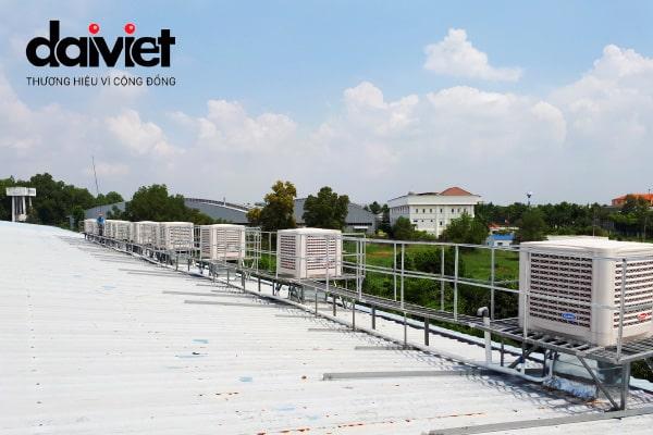 Trúng thầu lắp đặt hệ thống máy làm mát công nghiệp cho công ty May Việt Mỹ
