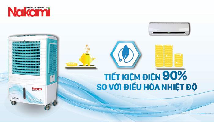Máy làm mát cao cấp Nakami NKA-05000C tiết kiệm 90% so với điều hòa