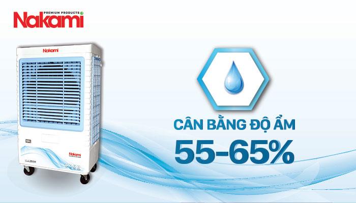Máy làm mát cao cấp Nakami NKA-07500A cân bằng độ ẩm tốt cho sức khỏe