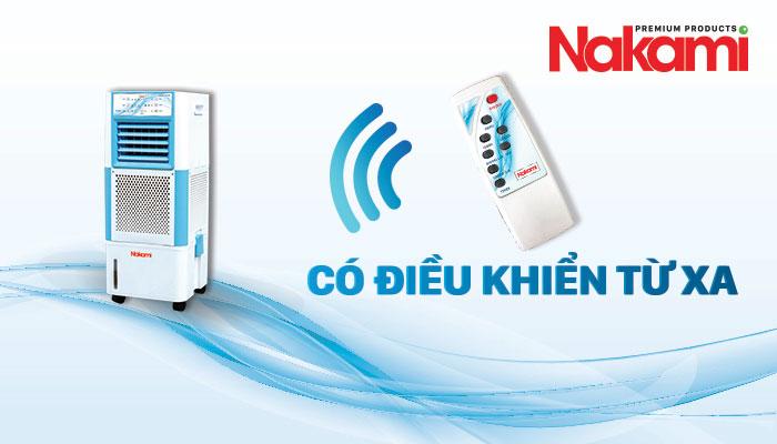 Máy làm mát cao cấp Nakami NKA-00800A có điều khiển từ xa hiện đại