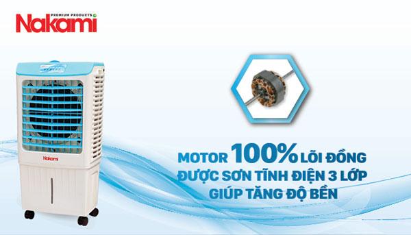 NKA-03500D có motor 100% lõi đồng tăng độ bền sử dụng
