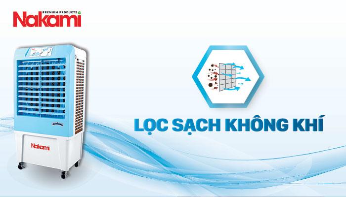 Máy làm mát cao cấp Nakami NKA-03500A lọc sạch không khí hiệu quả