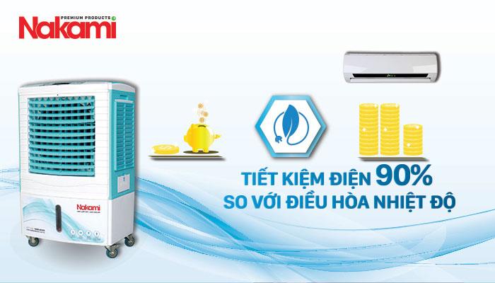 Máy làm mát cao cấp Nakami NKA-05000D tiết kiệm điện tối đa