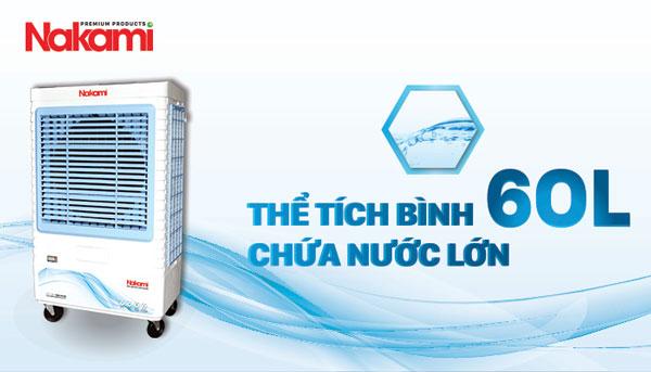 nakami nka-07500a có bình chứa nước lớn