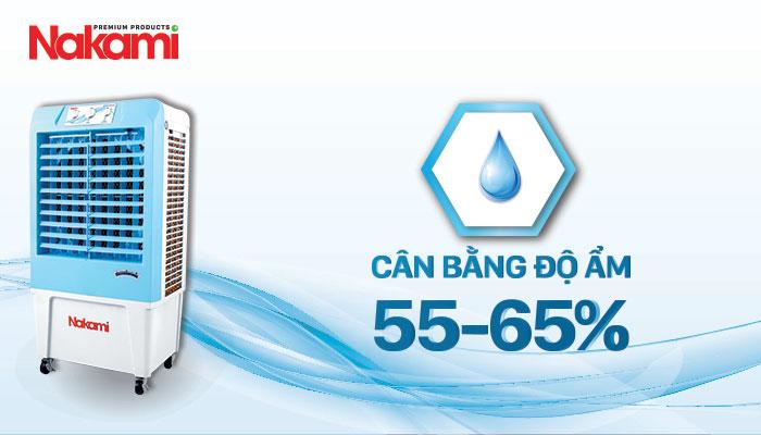 Máy làm mát cao cấp Nakami NKA-03500A cân bằng độ ẩm an toàn cho sức khỏe