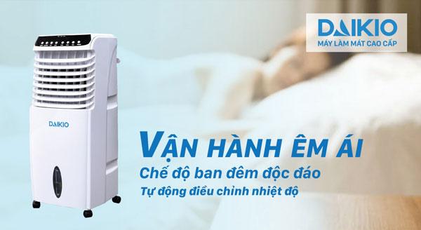 máy làm mát không khí vận hành êm ái có chế độ riêng khi ngủ