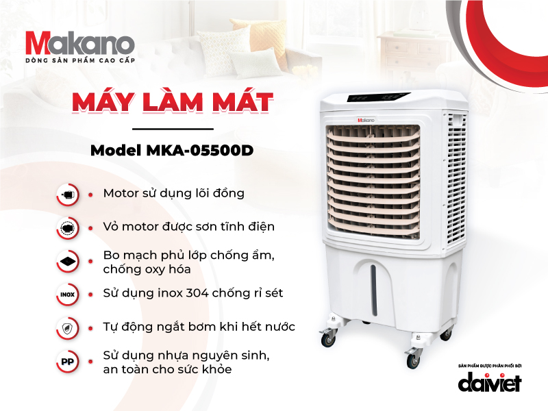 Chất lượng trong từng linh phụ kiện là nền tảng tạo nên sự bền bỉ của Makano MKA-05500D
