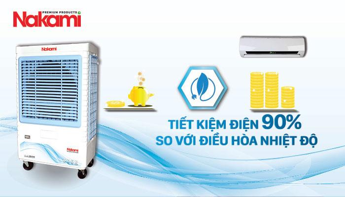Máy làm mát cao cấp Nakami NKA-07500A tiết kiệm 90% điện năng