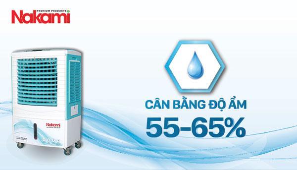 thiết bị làm mát Nakami NKA-5000D giúp cân bằng độ ẩm
