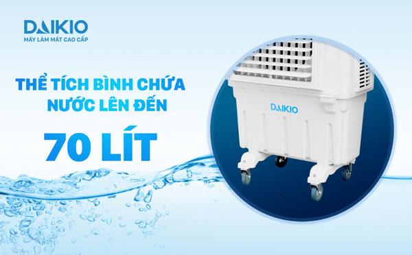 bình chứa của máy làm mát cao cấp daikio lên tới 70 lít