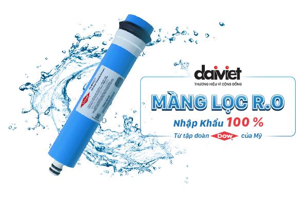 Màng lọc RO DOW của thiết bị lọc nước uống Đại Việt được nhập khẩu 100% từ Mỹ