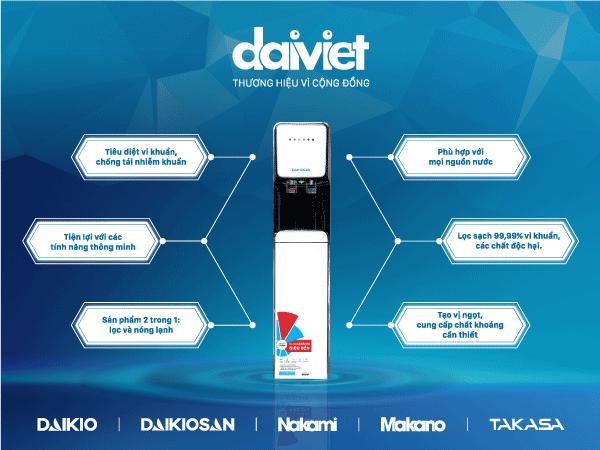 tính năng vượt trội của máy lọc nước nóng lạnh thương hiệu từ Đại Việt