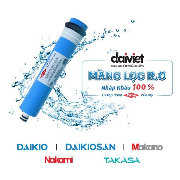 Đại Việt nhập khẩu màng RO trực tiếp từ tập đoàn DOW của Mỹ - Máy lọc nước nóng lạnh cao cấp Daikio DKW-00007C