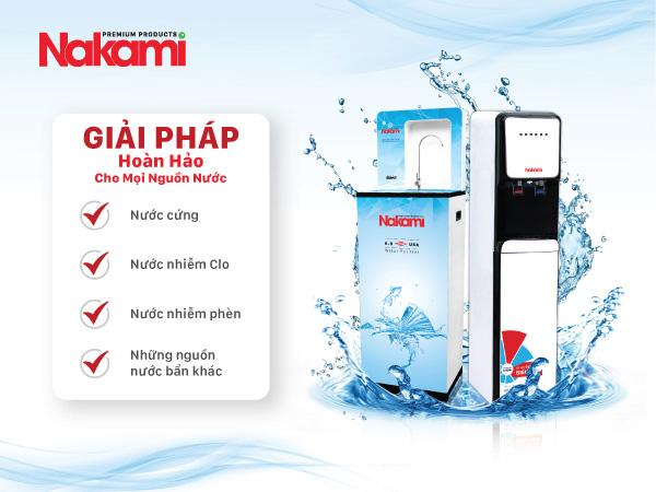 Máy lọc nước RO Nakami dùng cho mọi nguồn nước khác nhau