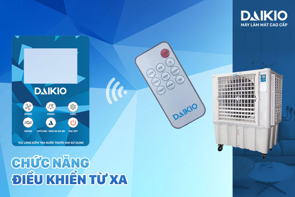 máy làm mát công nghiệp DAIKIO DK-15000A có thiết bị điều khiển từ xa