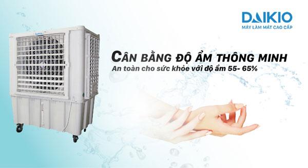 máy làm mát không khí công nghiệp DAIKIO DK-15000A cân bằng độ ẩm về mức lý tưởng