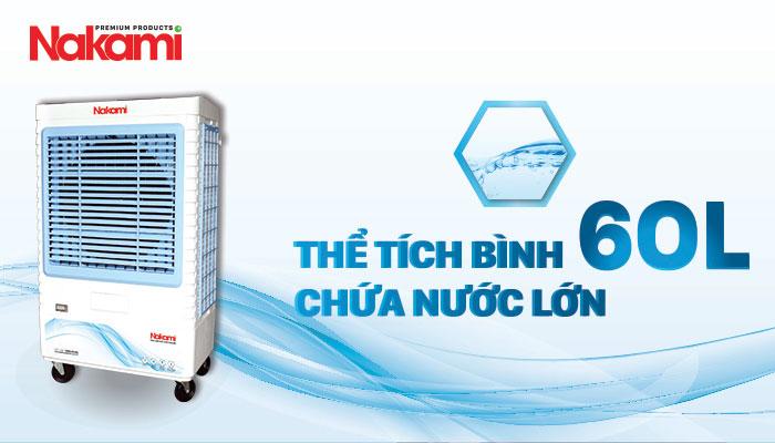 Máy làm mát Nakami NKM-7500A có bình chứa nước lớn