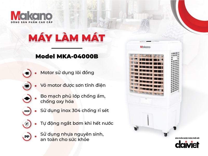 Mỗi linh phụ kiện cấu thành MKA-04000B đều đảm bảo chất lượng