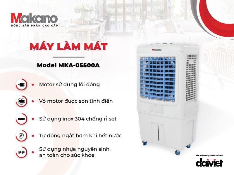 Chất lượng trong từng linh phụ kiện là nền tảng giúp Makano MKA-05500A có tuổi thọ cao
