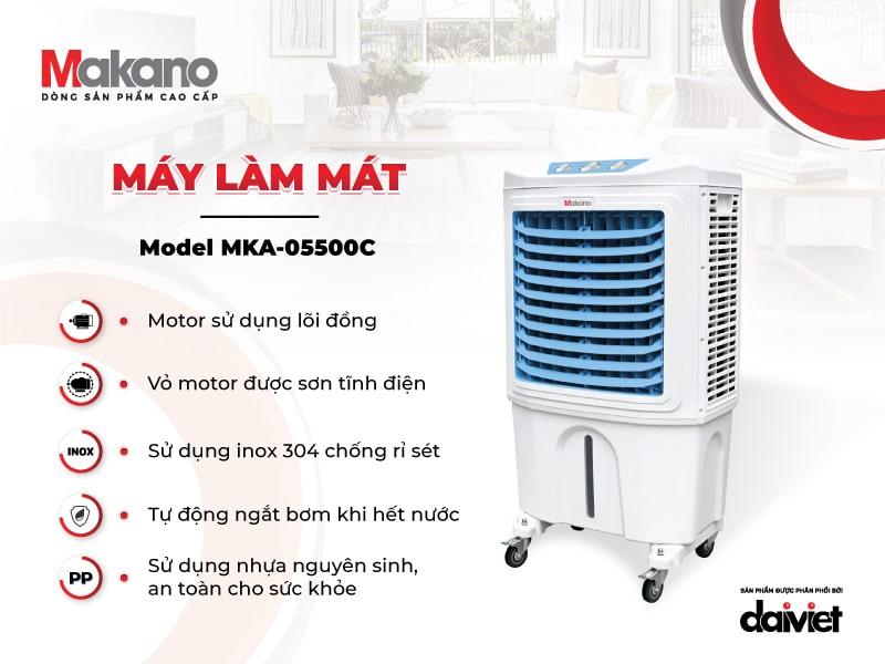 Máy làm mát Makano MKA-05500C đa dạng tính năng, dễ dàng sử dụng