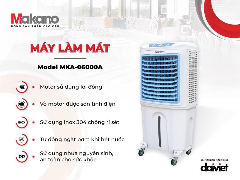 Máy làm mát Makano MKA-06000A sở hữu linh phụ kiện chất lượng