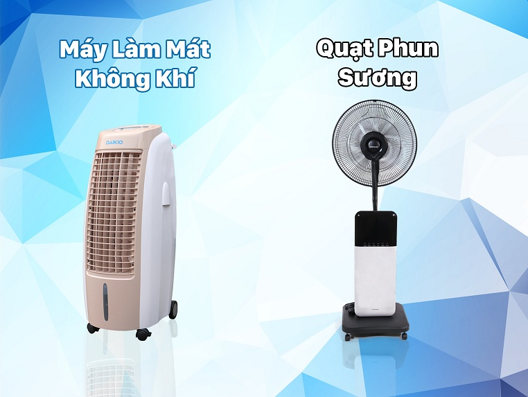sự khác nhau giữa máy làm mát không khí và quạt phun sương