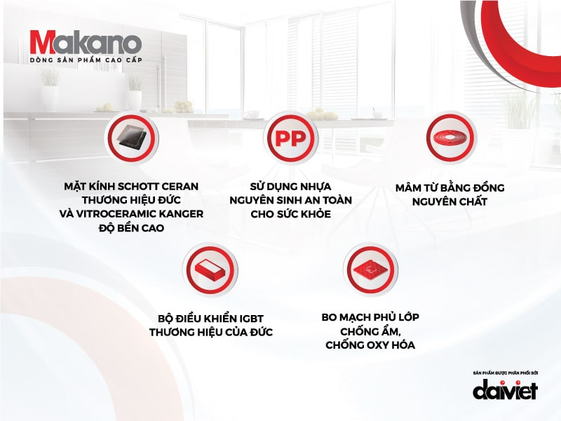 5 ưu thế về chất lượng của bếp Makano