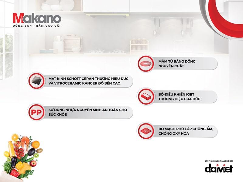 Chất lượng trong từng linh phụ kiện là nền tảng cho sự bền bỉ theo thời gian của Makano MKT-200002